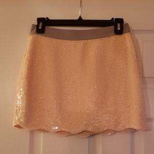 Pink sequin mini skirt